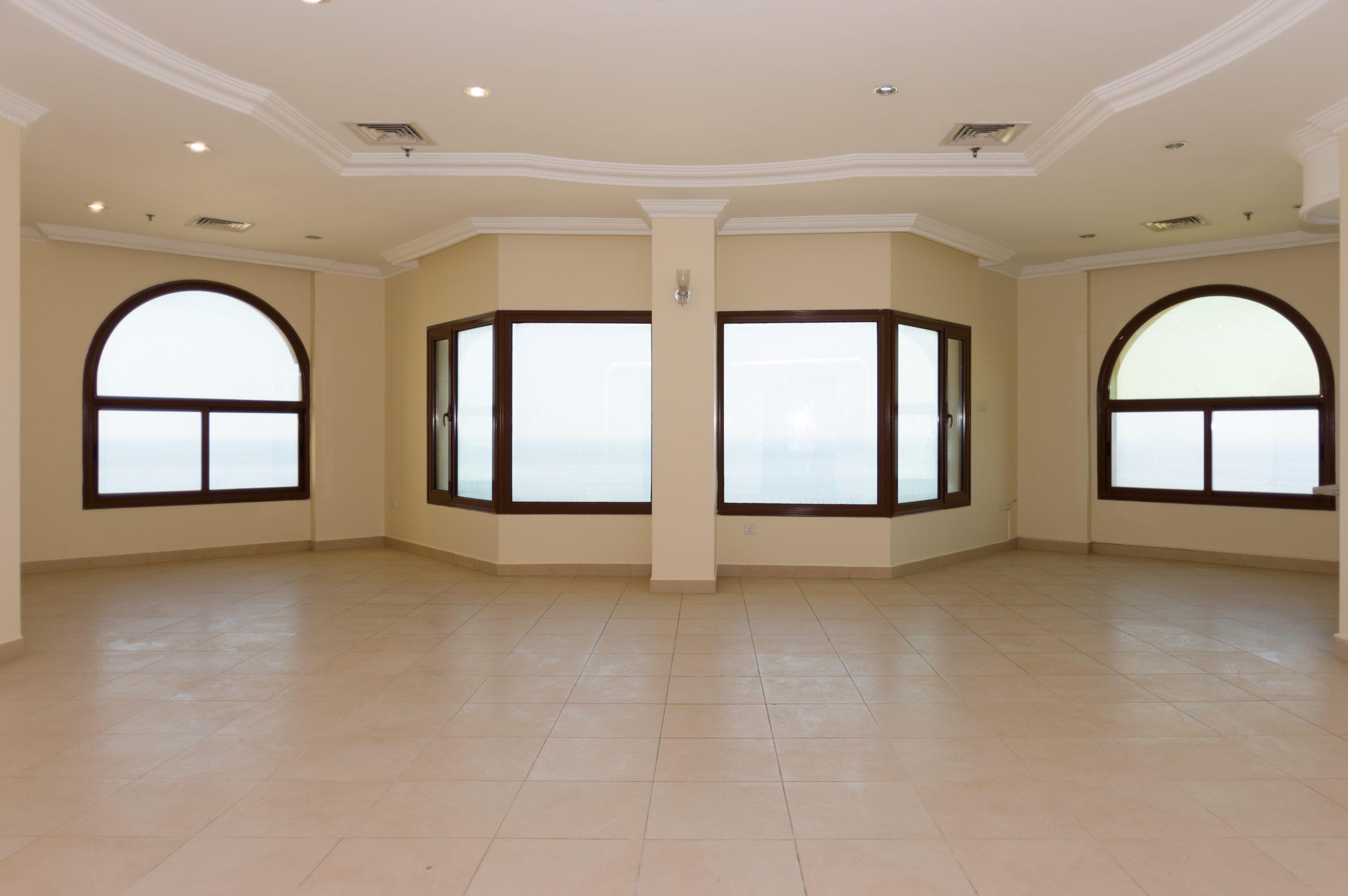 Mangaf – unfurnished, three bedroom floor w/sea view