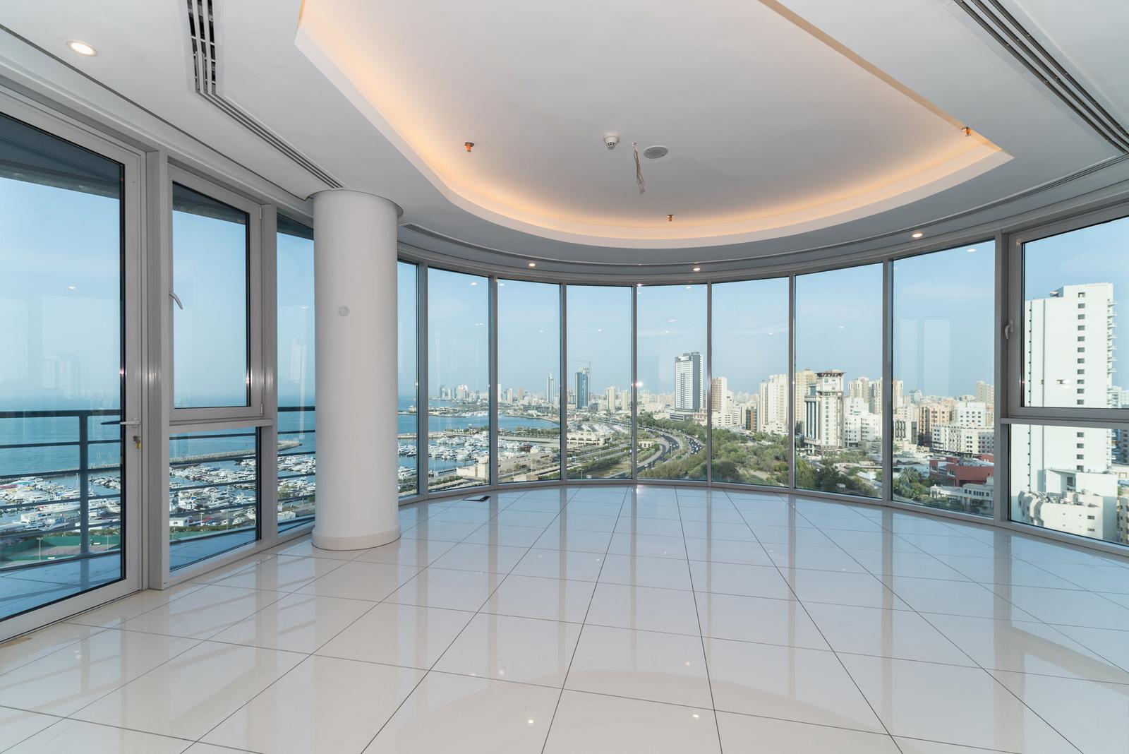 Salmiya – unfurnished, three bedroom apartments w/panoramic views