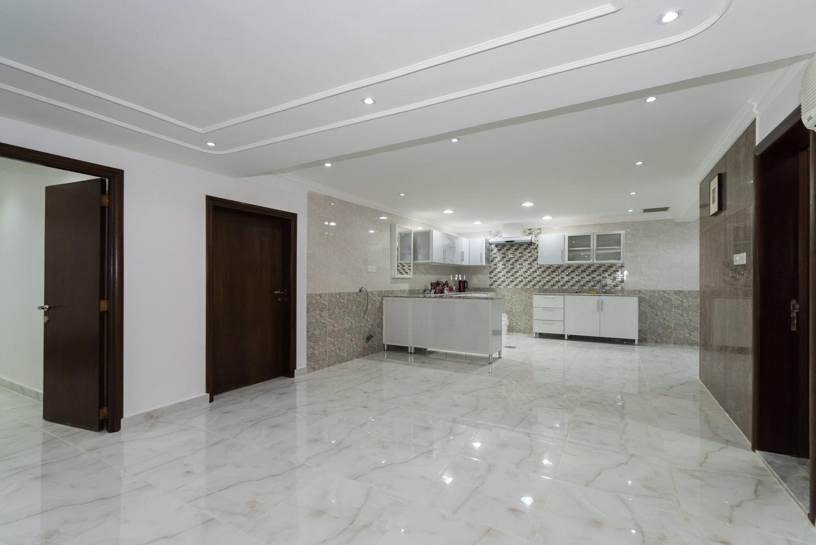 Mangaf – new, unfurnished, two bedroom basement apartment