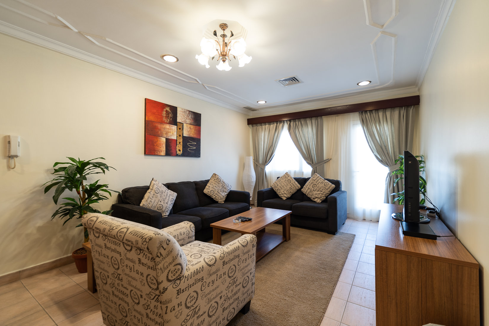 Mangaf – lovely, furnished, three bedroom apartments w/balcony