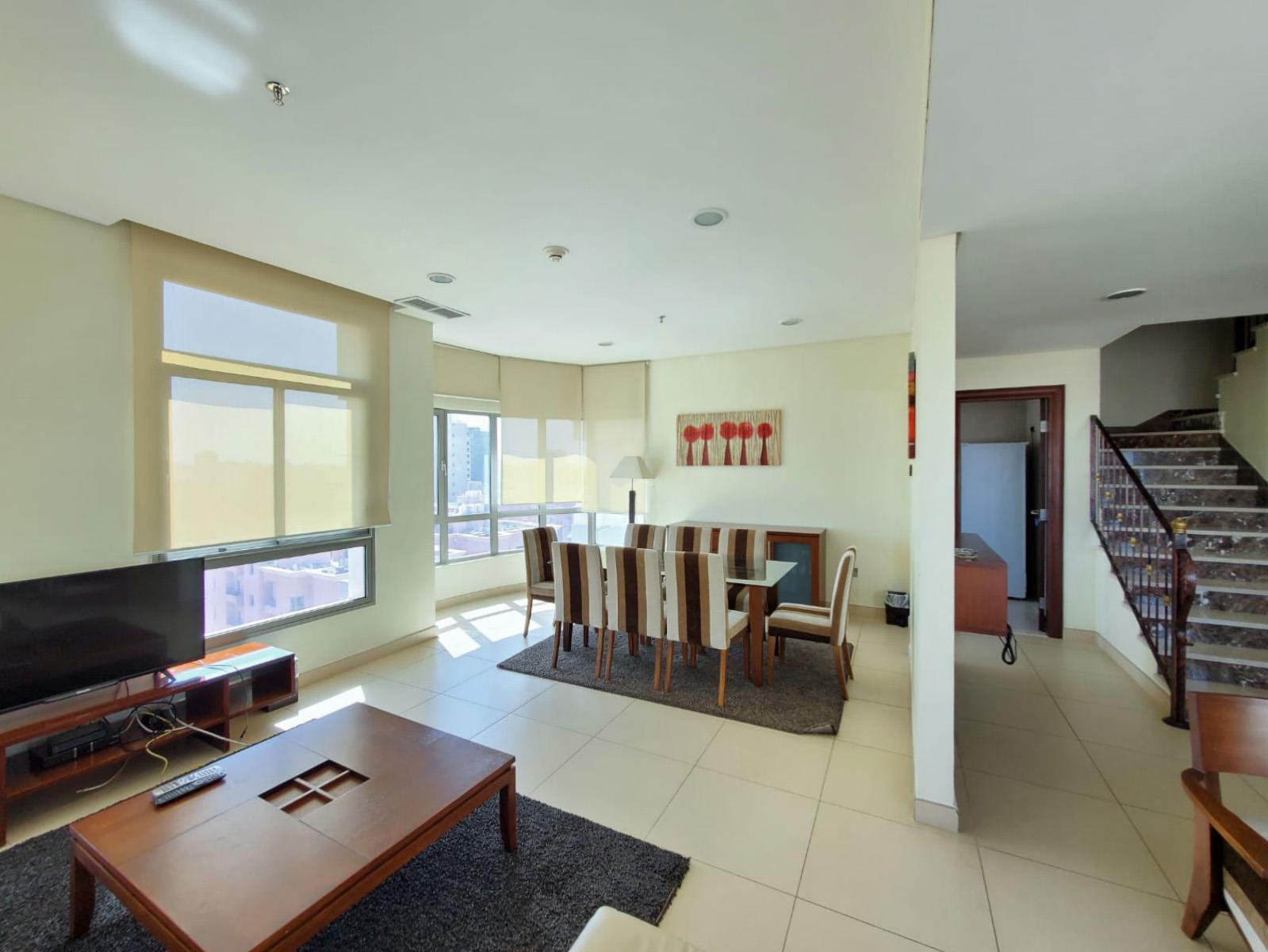 Salmiya – fully furnished three bedroom duplex w/pool