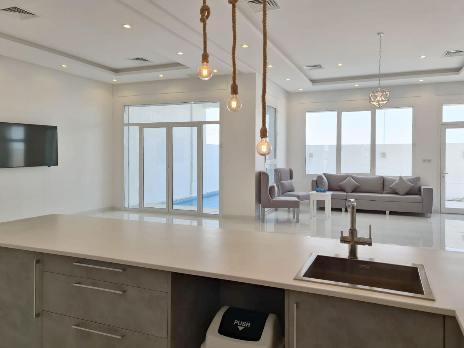 Khiran – furnished five master bedroom duplex w/pool