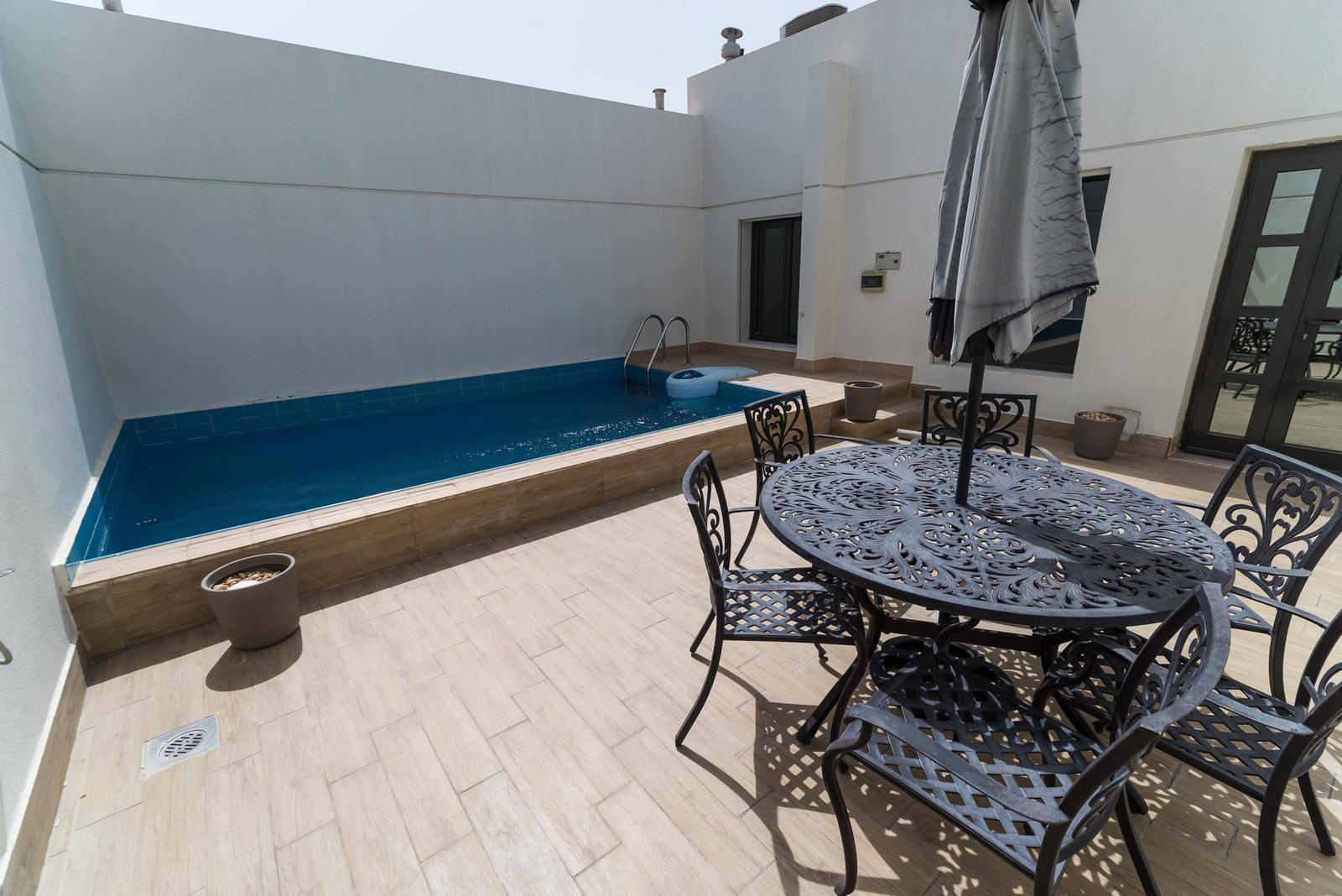 Jabriya – beautiful, unfurnished, four bedroom duplex w/private pool