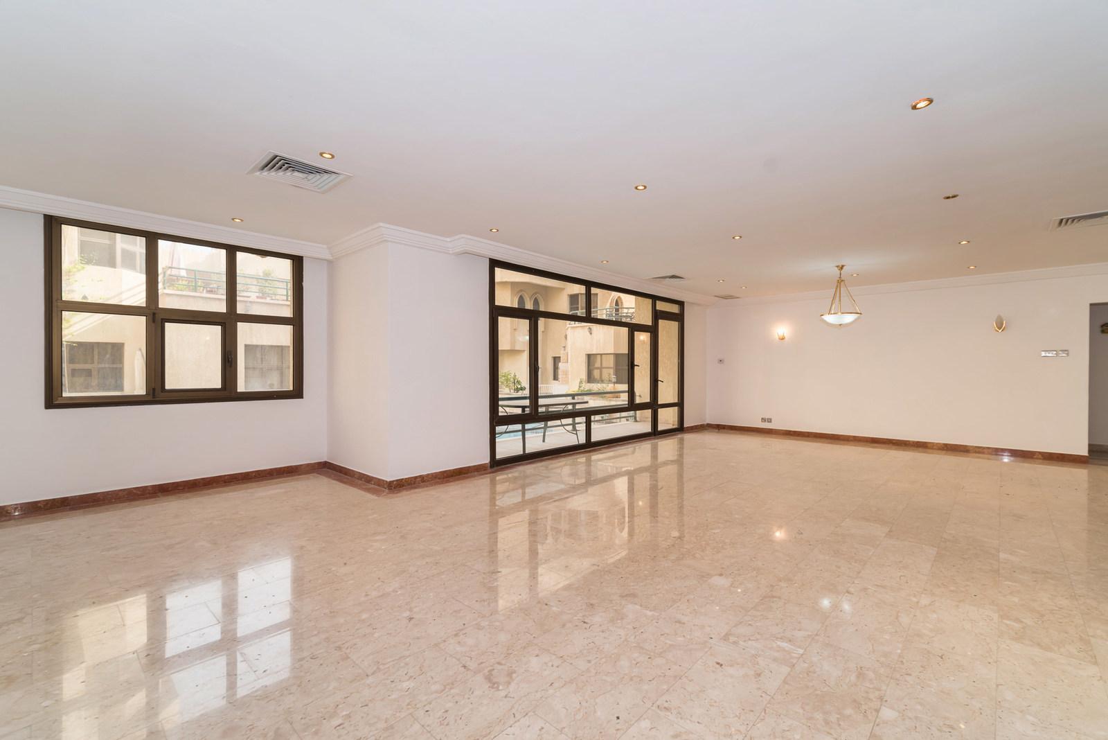Abu Al Hasania – great, unfurnished, three bedroom apartment w/pool
