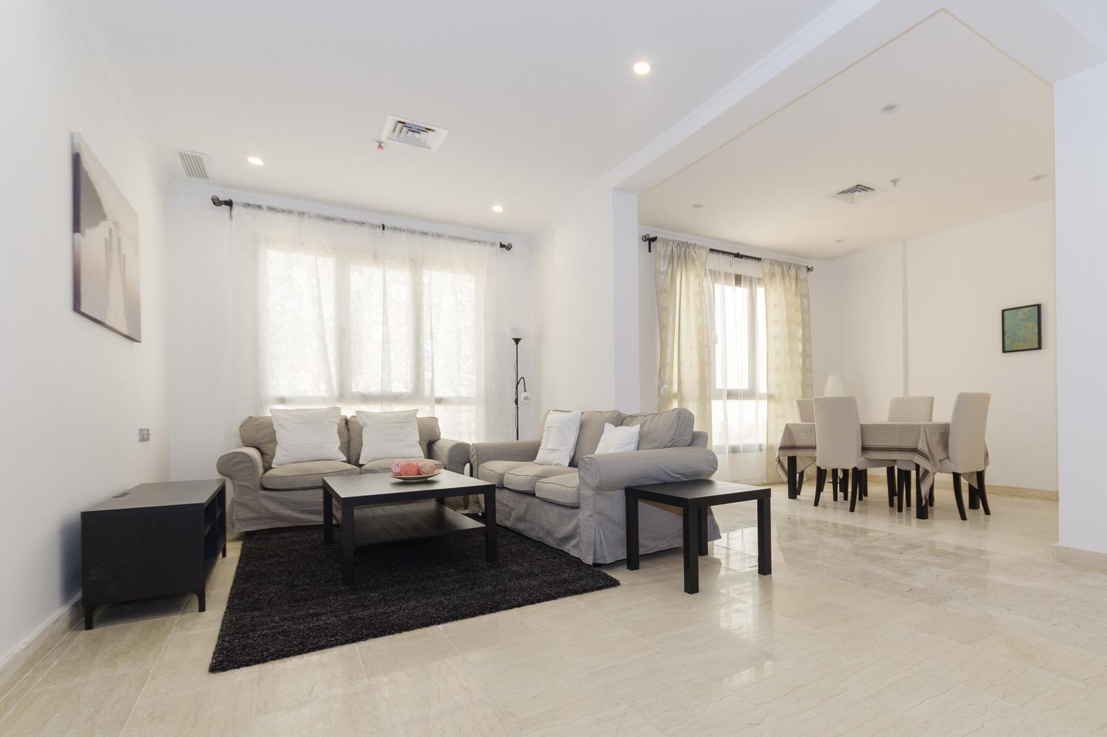 Salmiya – great, furnished one bedroom apartments w/pool