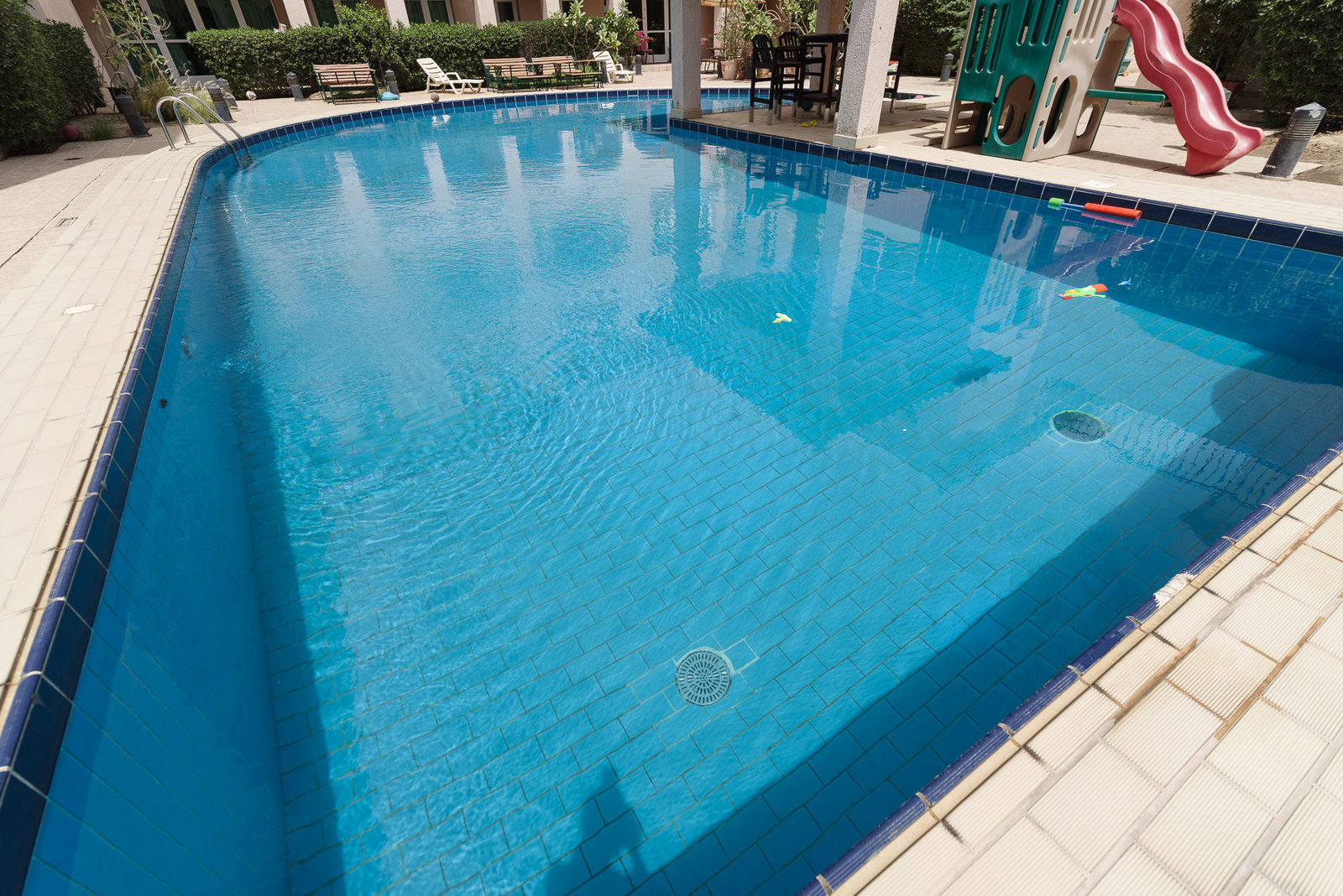 Messilah – older, unfurnished, four bedroom duplex apartment w/large terrace and common pool