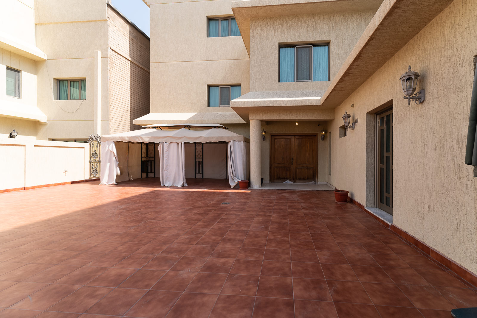 Sabah Al Salem – very spacious, unfurnished, two bedroom ground floor w/100m2 of private yard