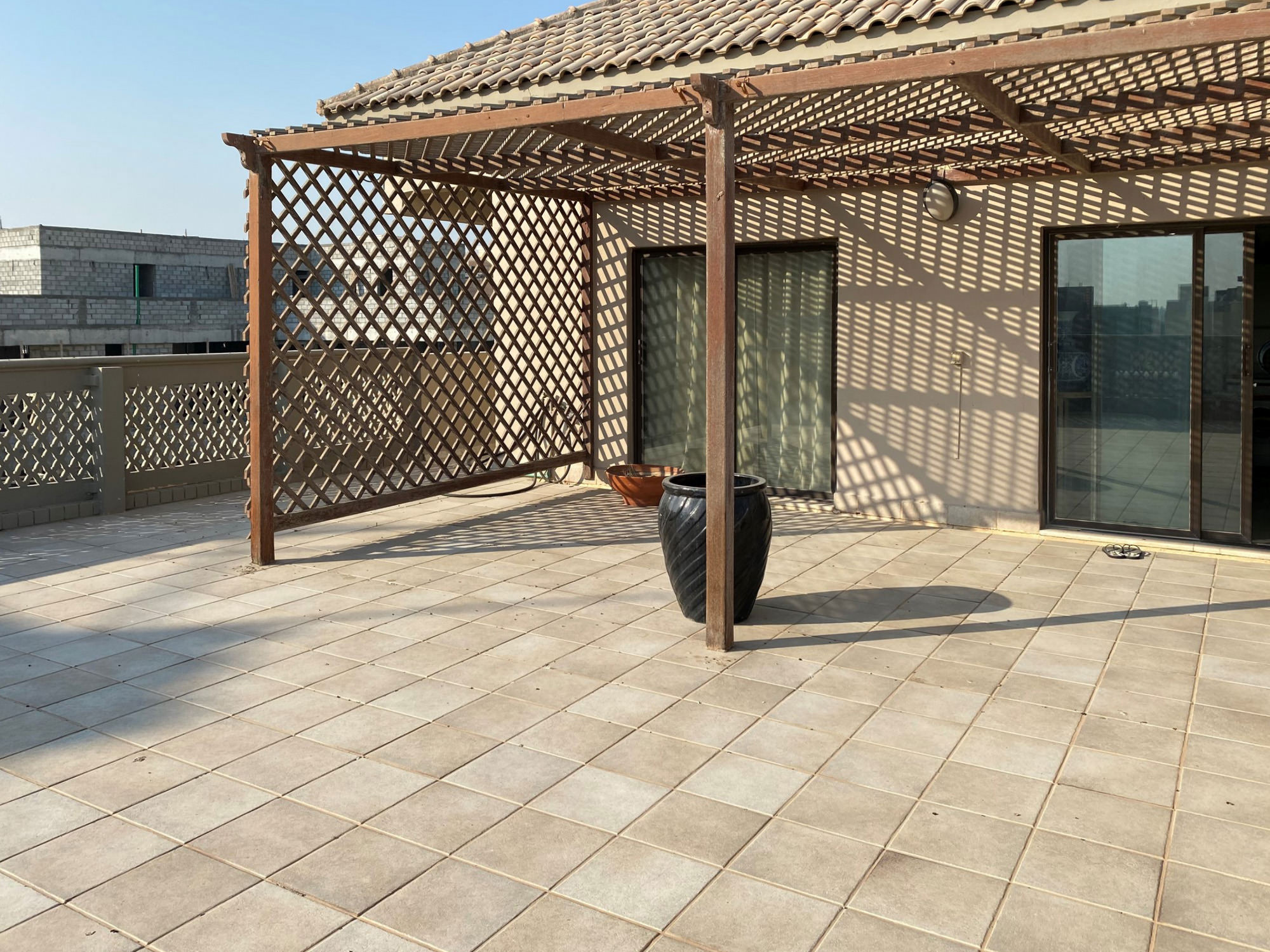Rumaithiya – spacious, unfurnished studio w/private terrace